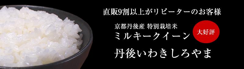 京都丹後産特別栽培米ミルキークイーン